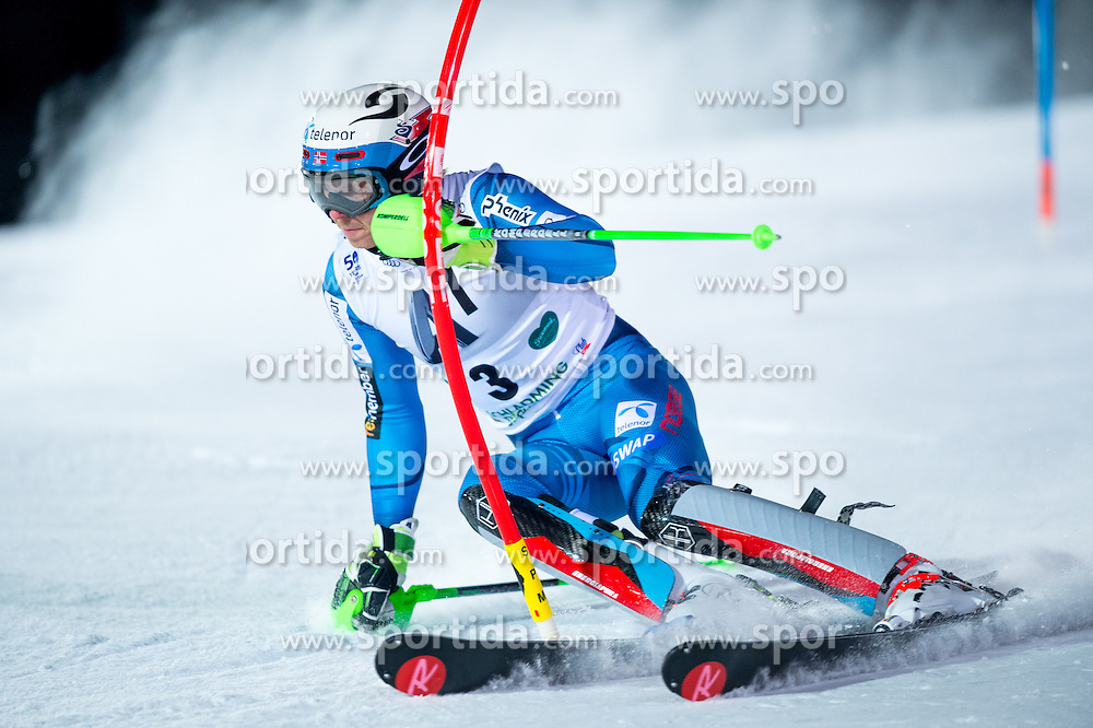 Henrik Kristoffersen (NOR) during the 7th Mens' Slalom of Audi FIS Ski World Cup 2016/17, on January 24, 2017 at the Planai in Schladming, Austria. Photo by Martin Metelko / Sportida