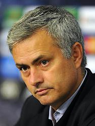 Chelsea Manager, Jose Mourinho in his post match press conference  - Photo mandatory by-line: Joe Meredith/JMP - Tel: Mobile: 07966 386802 22/10/2013 - SPORT - FOOTBALL - Veltins-Arena - Gelsenkirchen - FC Schalke 04 v Chelsea - CHAMPIONS LEAGUE - GROUP E
