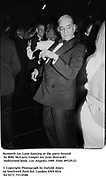 Kenneth Jay Lane dancing at a party hosted by Billy McCarty-Cooper for Jean Howard's Hollywood book. Los Angeles. 1989. Film.89329/21<br />
