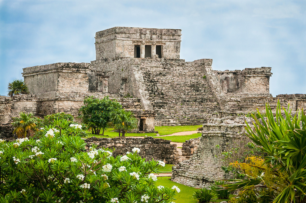 El Castillo at Tulum Maya ruins, Yucatan Peninsula, Mexico.
