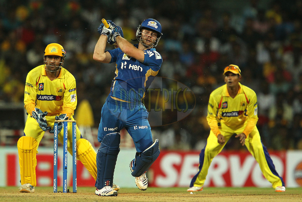 Aiden Blizzard during match 3 of the NOKIA Champions League T20 ( CLT20 )between the Chennai Superkings and the Mumbai Indians held at the M. A. Chidambaram Stadium in Chennai , Tamil Nadu, India on the 24th September 2011..Photo by Ron Gaunt/BCCI/SPORTZPICS