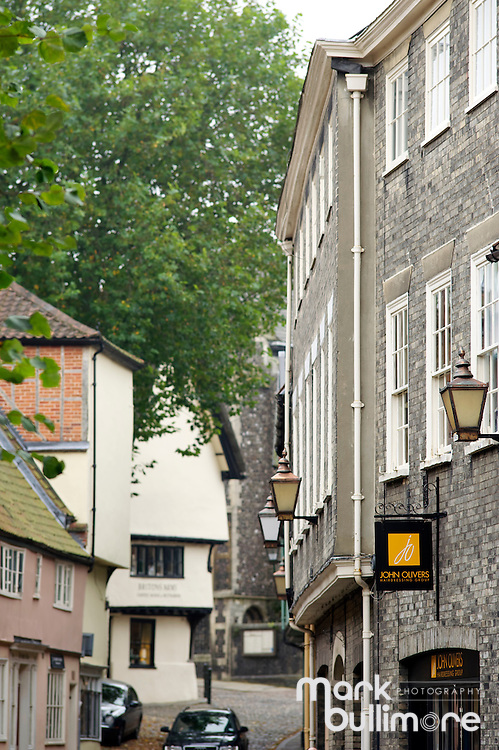 Elm Hill in Norwich, Norfolk