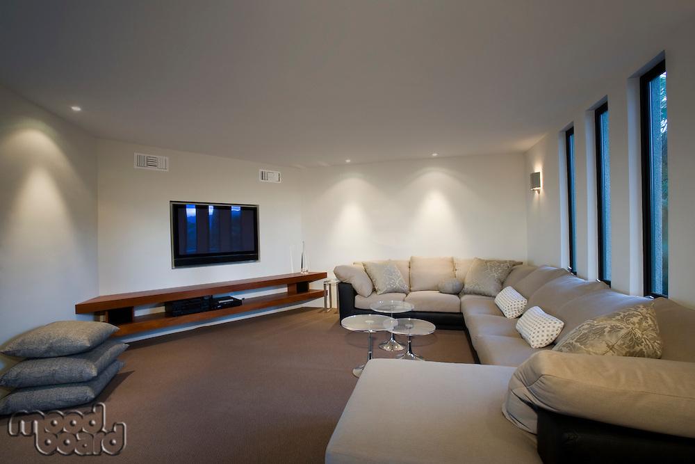 Luxury interior design tv room