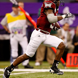 December 18, 2010; New Orleans, LA, USA; Troy Trojans wide receiver Jerrel Jernigan (3) returns a kickoff against the Ohio Bobcats during the 2010 New Orleans Bowl at the Louisiana Superdome. Troy defeated Ohio 48-21. Mandatory Credit: Derick E. Hingle