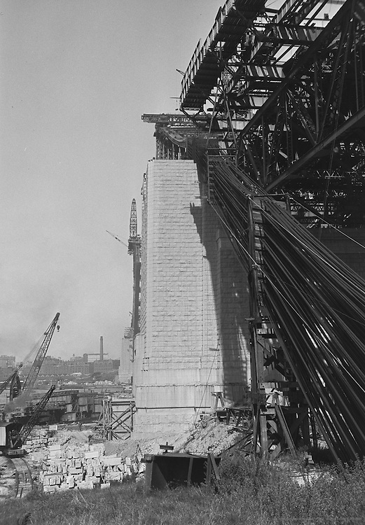 Sydney Harbour Bridge construction, Australia, 1930