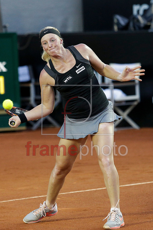 Patrícia Mayr-Achleitner(AUT) contra Teliana Pereira(BRA) participa da segunda rodada do circuito WTA no Rio de Janeiro, nas instalações do Jóquei, na bairro da Gávea, zona sul da cidade.