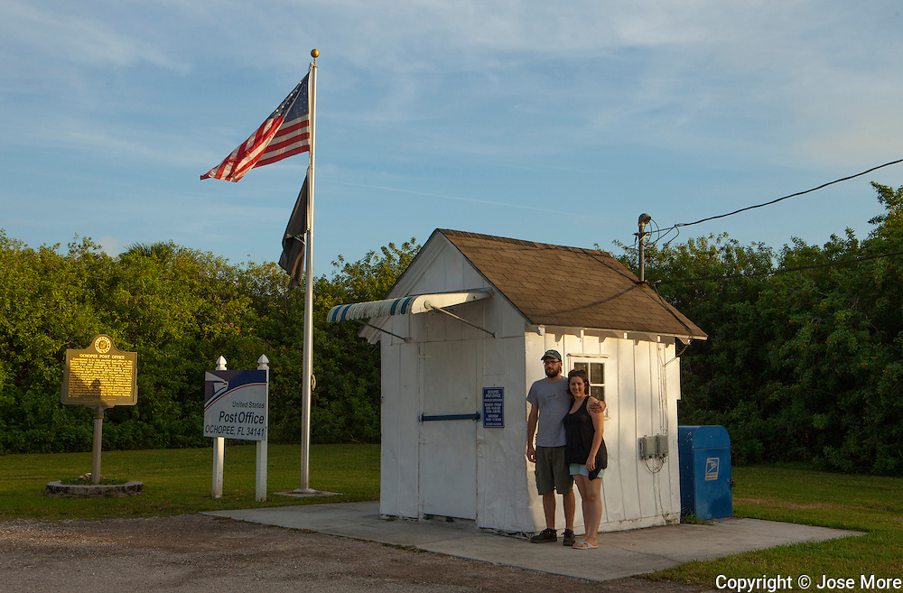Ochopee post office is the smallest post office in the United  States on the Tamiami Trail in South Florida. MR Model Release<br /> Photography by Jose More