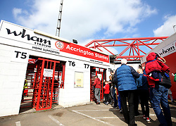 Accrington Stanley fans arrive at the Wham Stadium for the match against Exeter City where they could clinch promotion to Sky Bet League One - Mandatory by-line: Robbie Stephenson/JMP - 14/04/2018 - FOOTBALL - Wham Stadium - Accrington, England - Accrington Stanley v Exeter City - Sky Bet League Two