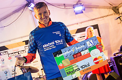 Primoz Kobe at Podium after 10th Nocna 10ka 2016, traditional run around Bled's lake, on July 09, 2016 in Bled,  Slovenia. Photo by Vid Ponikvar / Sportida
