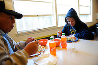 Lunch tends to be the heartiest meal of the day at the First United Methodist Church in Salinas, California. Volunteers from the community drive a program that provides meals, counseling resources and occasional shelter to people in need.