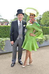 SIR BRUCE & LADY FORSYTH at the first day of the 2014 Royal Ascot Racing Festival, Ascot Racecourse, Ascot, Berkshire on 17th June 2014.