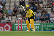 Lewis McManus of Hampshire battingduring the Vitality T20 Blast South Group match between Hampshire County Cricket Club and Middlesex County Cricket Club at the Ageas Bowl, Southampton, United Kingdom on 20 July 2018. Picture by Dave Vokes.