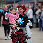 Images from The Glasgow Kiltwalk 2013. Walkers finishing the Kiltwalk.