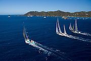 Gliss, Rebecca, Leopard 3, Wild Horses racing in the St. Barth Bucket regatta.
