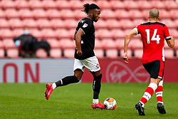 Kasey Palmer of Bristol City is challenged by Oriol Romeu of Southampton during a friendly match before the Premier League and Championship resume after the Covid-19 mid-season disruption - Rogan/JMP - 12/06/2020 - FOOTBALL - St Mary's Stadium, England - Southampton v Bristol City - Friendly.