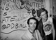Jonh Ingham and BP fallon backstage - London 1977