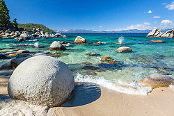 """Boulders at Secret Cove 3"" - These boulders shoreline were photographed at Secret Cove on the East Shore of Lake Tahoe."