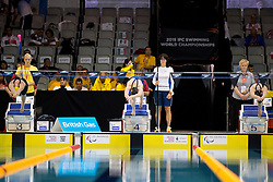 REICHARD Maja, SCHULTE Daniela, FISHER Mary SWE, GER, NZL at 2015 IPC Swimming World Championships -  Women's 200m Individual Medley SM11