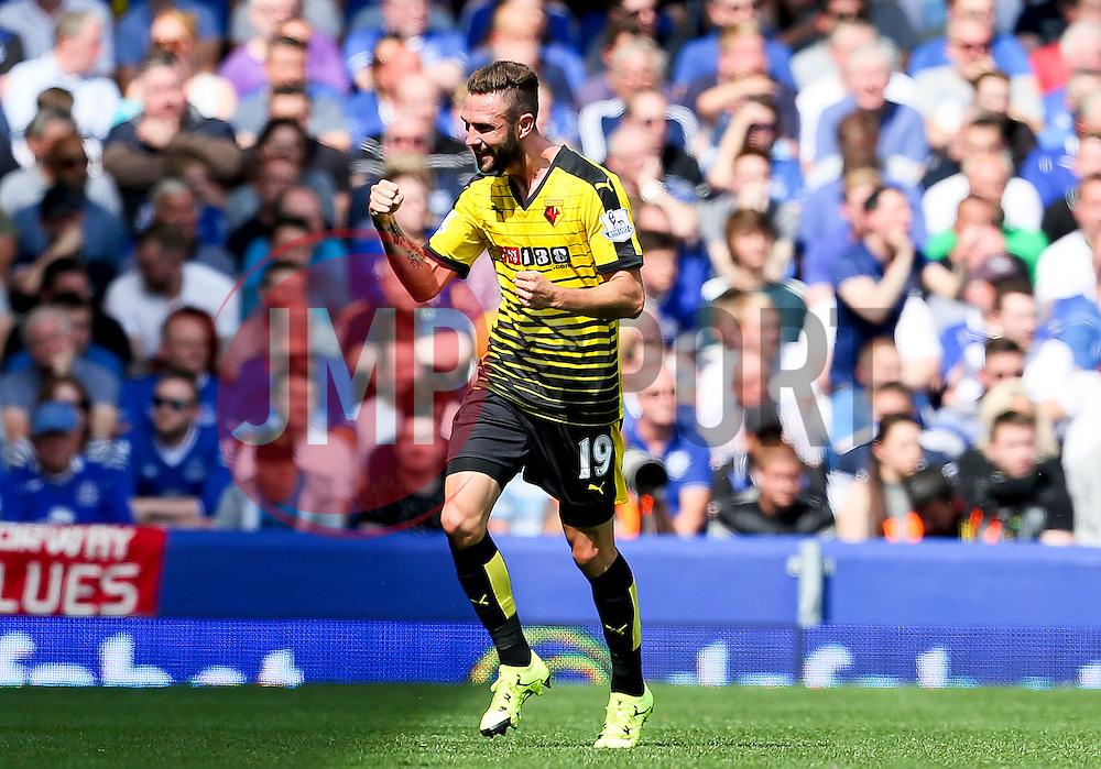 Watford's Miguel Layun celebrates after scoring the opening goal  - Mandatory byline: Matt McNulty/JMP - 07966386802 - 08/08/2015 - FOOTBALL - Goodison Park -Liverpool,England - Everton v Watford - Barclays Premier League