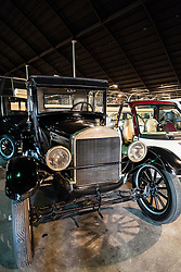 Ford Model T vintage car on display at Emirates National Auto Museum ouside Abu Dhabi in United Arab Emirates