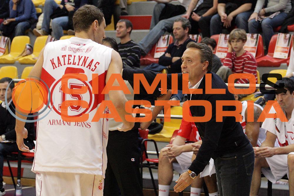 DESCRIZIONE : Milano Lega A1 2008-09 Armani Jeans Milano Premiata Montegranaro<br /> GIOCATORE : Piero Bucchi Mindaugas Katelynas<br /> SQUADRA : Armani Jeans Milano<br /> EVENTO : Campionato Lega A1 2008-2009<br /> GARA : Armani Jeans Milano Premiata Montegranaro<br /> DATA : 02/11/2008<br /> CATEGORIA : Delusione<br /> SPORT : Pallacanestro<br /> AUTORE : Agenzia Ciamillo-Castoria/S.Ceretti