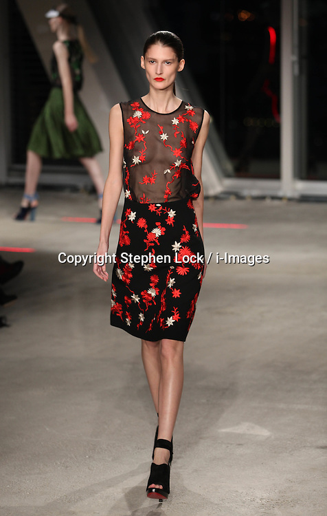 Jonathan Saunders show  at London Fashion Week .A/W 2012. Sunday ,19th February 2012. Photo by: Stephen Lock / i-Images