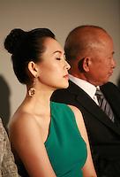 Zhang Ziyi, John Woo, at Press Conference for John Woo's forthcoming film The Crossing, Saturday 17th May 2014, Cannes, France.