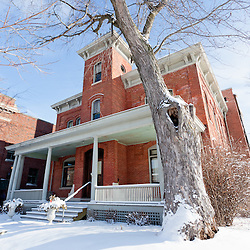 """Lake County Sheriff's home and jail at 232 S. Main St. in Crown Point Indiana. In 1934 John Dillinger escaped from the Lake County jail in this building. In 2008 Universal Studios filmed parts of the movie Public Enemies with Johnny Depp. The jail is open to the public for tours and goes past Dillinger's cell and also where filming was done. Crown Point is located in Northwest Indiana with a population of over 37,000. Crown Point and Lake County are about 50 miles from Chicago and are considered part of the """"Chicagoland"""" area. Crown Point has a traditional small town America feel with a main street consisting of the old Lake County Courthouse surrounded by numerous small businesses, known as """"the square"""", including a theater, ice cream shop, antique stores, and restaurants."""