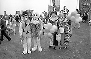 Thurcroft Colliery canteen fancy dress contestants. 1990 Yorkshire Miner's Gala. Rotherham.