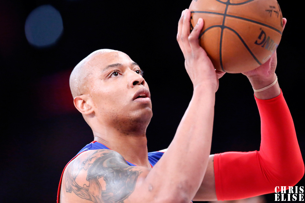 10 March 2015: Detroit Pistons forward Caron Butler (31) is seen at the free throw line during the Los Angeles Lakers 93-85 victory over the Detroit Pistons, at the Staples Center, Los Angeles, California, USA.