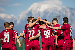 Players of NK Triglav Kranj during Football match between NK Triglav Kranj and NS Mura in 28th Round of Prva liga Telekom Slovenije 2018/19, on April 20, 2019, in Sports centre Kranj, Slovenia. Photo by Grega Valancic / Sportida