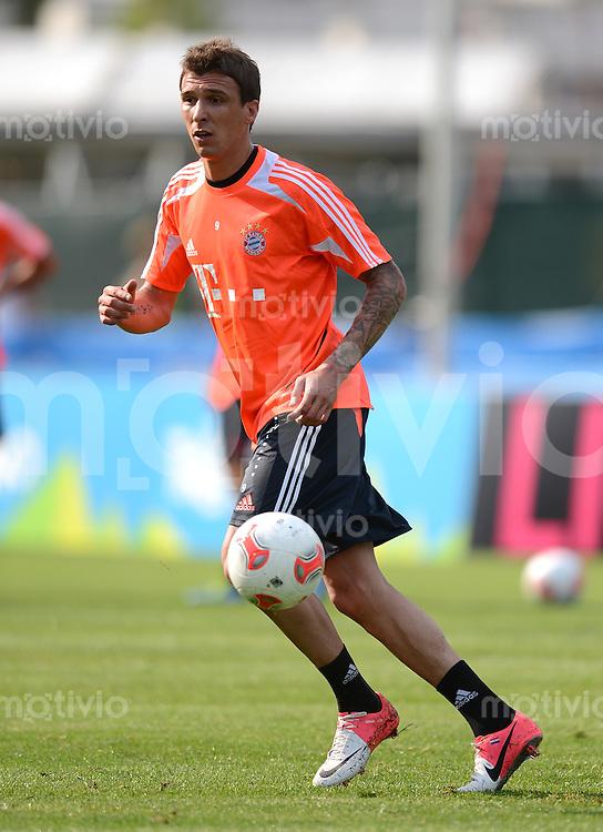 Fussball 1. Bundesliga:  Saison  Vorbereitung 2012/2013     Trainingslager des FC Bayern Muenchen 15.07.2012 Mario Mandzukic (FC Bayern Muenchen)