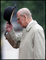 August 2, 2017 - London, England, United Kingdom - PRINCE PHILIP The Duke of Edinburgh attending the Captain General's Parade as his final individual public engagement, at Buckingham Palace. The Duke meets Royal Marines who have completed a mammoth 1,664 mile trek - his final official royal event before he retires from public engagements. (Credit Image: © i-Images via ZUMA Press)
