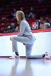 NORMAL, IL - February 10: Kristen Gillespie during a college women's basketball Play4Kay game between the ISU Redbirds and the Indiana State Sycamores on February 10 2019 at Redbird Arena in Normal, IL. (Photo by Alan Look)