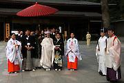 A shintu wedding at Meiji Shrine, Shinjuku, Tokyo, Japan