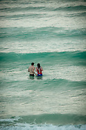 jon and Emily in surf