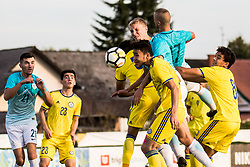 Ziga Lipuscek of Slovenia and Alen Ozbolt of Slovenia during football match between Slovenia and Kazahstan in Qualifying round for European Under-21 Championship 2019, on September 11, 2018 in Mestni Stadium Ptuj, Slovenija, 2018. Photo Grega Valancic
