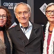 NLD/Amsterdam/20150903 - Inloop premiere Cirque Stiletto 3, Karel de Rooij met partner Yvonne en dochter Nicole