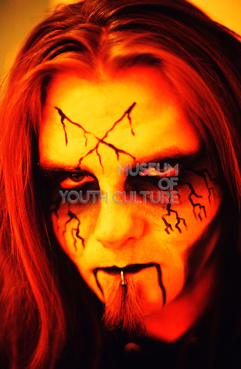 """Cradle Of Filth"" band member with his face on, UK 2000's"