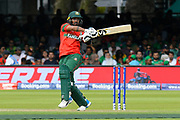 Liton Das of Bangladesh plays an attacking shot during the ICC Cricket World Cup 2019 match between Pakistan and Bangladesh at Lord's Cricket Ground, St John's Wood, United Kingdom on 5 July 2019.