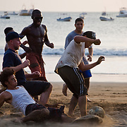 A soccer game on the beach in San Juan del Sur, Nicaragua.  May 2009.  (Photo/William Byrne Drumm)