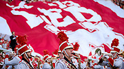 Lincoln, NE - Sept 2:  The Nebraska Cornhuskers band performs before  the game against the Arkansas State Red Wolves at Memorial Stadium in Lincoln Nebraska September 2 2017. Photo by Eric Francis