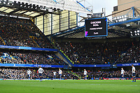 Football - 2019 / 2020 Premier League - Chelsea vs. Tottenham Hotspur<br /> <br /> Chelsea's Olivier Giroud's goal checked by VAR, at Stamford Bridge.<br /> <br /> COLORSPORT/ASHLEY WESTERN