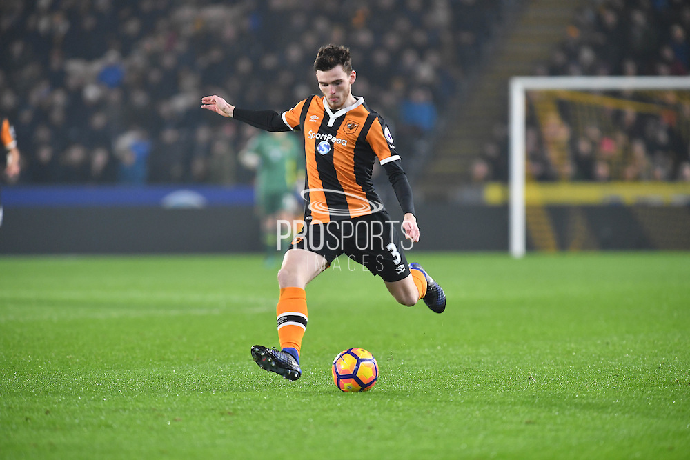 Hull City defender Andrew Robertson (3) during the Premier League match between Hull City and Everton at the KCOM Stadium, Kingston upon Hull, England on 30 December 2016. Photo by Ian Lyall.