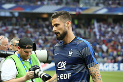 June 1, 2018 - Paris, Ile-de-France, France - Olivier Giroud (France) before the friendly football match between France and Italy at Allianz Riviera stadium on June 01, 2018 in Nice, France..France won 3-1 over Italy. (Credit Image: © Massimiliano Ferraro/NurPhoto via ZUMA Press)