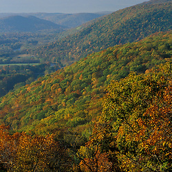 The view of the Housatonic River from Caleb's Peak on the Appalachian Trail in CT's Litchfield Hills.  Near Kent School TPL project.  Kent, CT