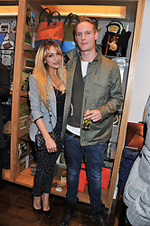 ZARA MARTIN and actor JACK FOX at the opening of the new Jack Spade store at 83 Brewer street, London on 29th March 2012.
