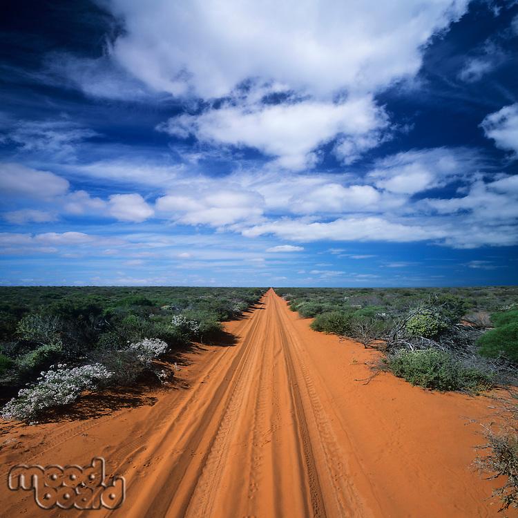 Rural Road in Vast Landscape