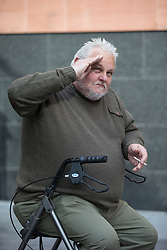 "© Licensed to London News Pictures . 10/04/2015 . Manchester , UK . "" CAPTAIN "" RICHARD WILLIAMS outside Manchester Crown Court today (10th April 2015) . Williams faces jail for instigating a £1.1million VAT fraud , spending the money on luxury cars , holidays and having a replica German U-boat built as a home-cum-museum . Photo credit : Joel Goodman/LNP"