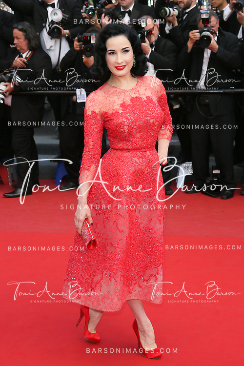CANNES, FRANCE - MAY 21:  Dita Von Teese attends 'Behind The Candelabra' Premiere during The 66th Annual Cannes Film Festival on May 21, 2013 in Cannes, France.  (Photo by Tony Barson/FilmMagic)